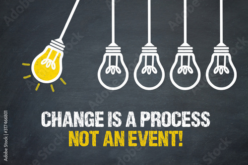 Obraz Change is a process not an event! - fototapety do salonu