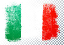 Vector Illustration Distortion Grunge Flag Of Italy