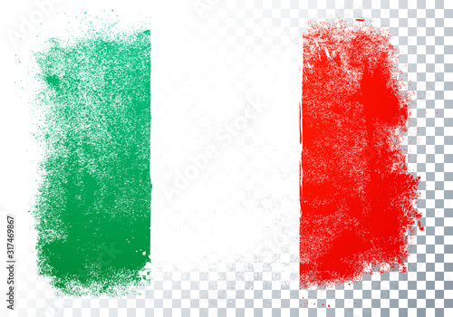 Vector Illustration Distortion Grunge Flag Of Italy