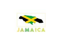 Jamaica Logo. Map Of Jamaica W...