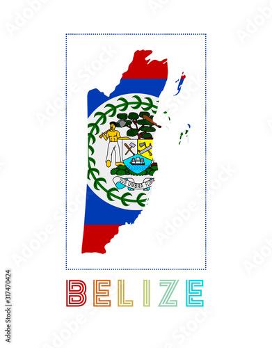 Belize Logo Wallpaper Mural