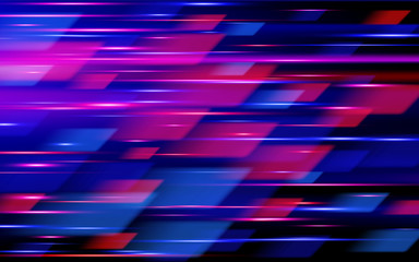 High speed. Hi-tech. Blue and red abstract technology background. Vector illustration