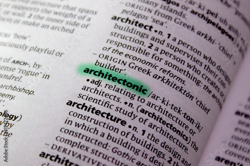 Photo Architectonic word or phrase in a dictionary.