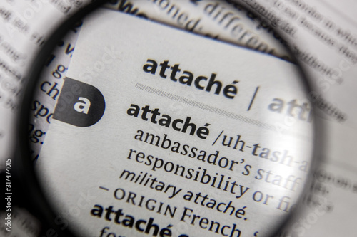 The word or phrase attach? in a dictionary. Wallpaper Mural