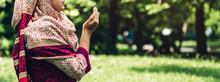 Religious Muslim Asian Woman P...