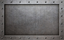 Grunge Metal Frame With Rivets...