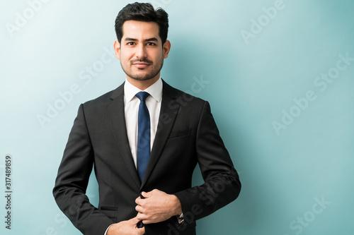 Good Looking Male Business Professional In Studio Fototapeta