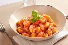 Serving Of Gnocchi Pasta With ...
