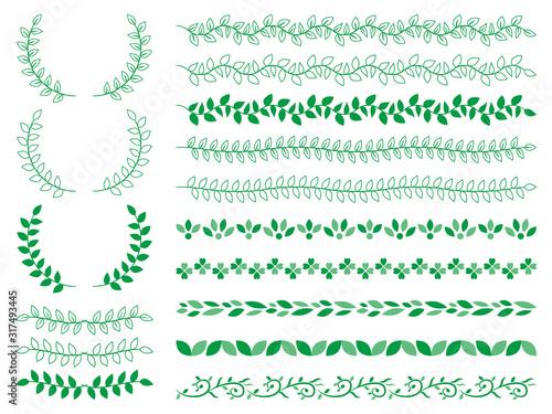 飾り罫 フレーム 植物