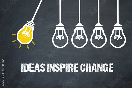 Obraz Ideas inspire change - fototapety do salonu