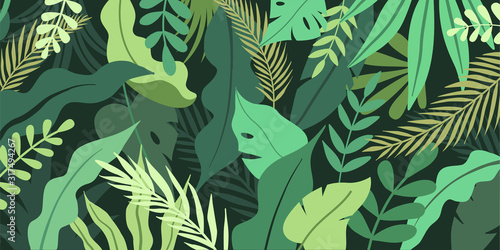 Vector illustration in simple flat style with copy space for text - background w Canvas Print