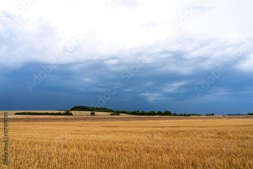 Canvastavla Campagne ciel couvert