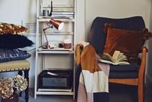 Cozy Hygge Interior With Rocki...