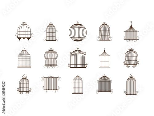 Photo Isolated birdcage icon set vector design