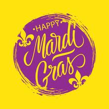 Happy Mardi Gras Greeting Card...