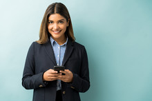 Young Businesswoman Using Mobi...