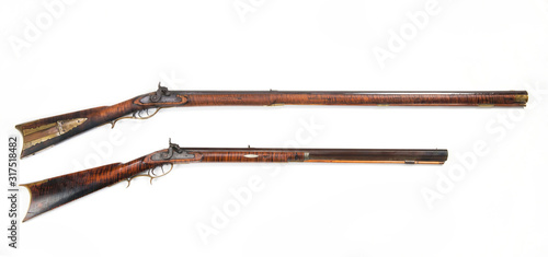 Antique Mountain Mans Rifles. Wallpaper Mural