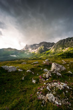 The Montasio Plateau At Sunset, Julian Alps, Friuli Venezia Giulia, Italy, Europe