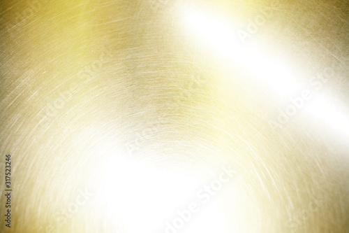 gold metal scratched steel brushed texture Canvas Print