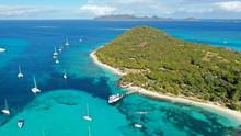 Caribbean Islands & Sea Aerial.