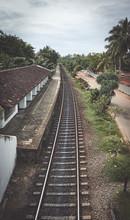Bentota Train Station On A Rai...