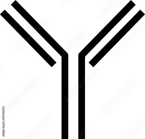 Antibody icon - vector illustration Canvas Print
