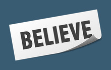 Believe Sticker. Believe Squar...
