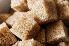 Pile Of Golden Brown Sugar Cub...