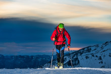 Ski Touring At Night In The La...