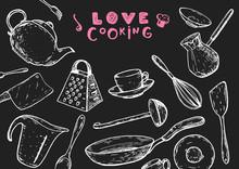 Love Cooking Illustration. Kit...