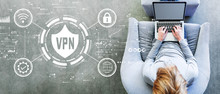 VPN Concept With Man Using A L...