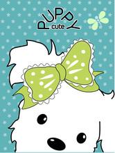 Puppy Cute Brand Book Cover De...