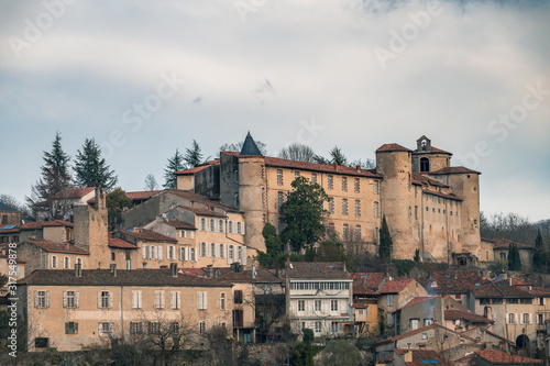 Fototapety, obrazy: Saint-Lizier french village located south of France