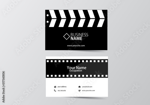 movie open clapper board and film business card Wallpaper Mural