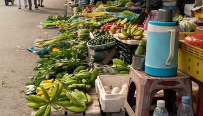 Fresh produce at street market Hoi An Vietnam