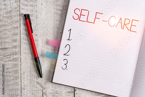 Photo Handwriting text writing Self Care