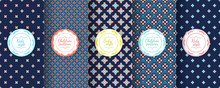 Kids Colorful Seamless Pattern. Cute Baby Design Background.
