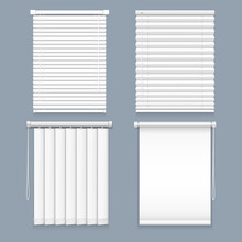 Blind Window Curtain Or Set Of Isolated Louver