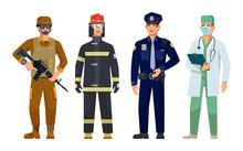 Doctor, Policeman, Fireman, Mi...