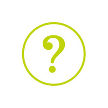 Green Question Mark Sign In Green Circle Icon. Help Symbol. FAQ Sign.