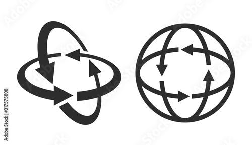 Rotation angle 360 degrees vector icon Canvas Print
