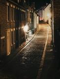 Fototapeta Uliczki - Whitby on a winters evening