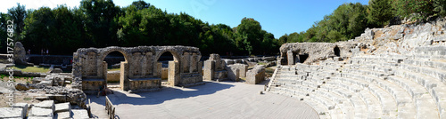 Panorama of Theater in ancient city Bouthroton(Butrint), Albania. Wallpaper Mural