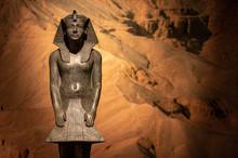 Plaster Replica Of Tutankhamun Statue
