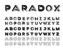 Paradox Shape Font. Impossible...