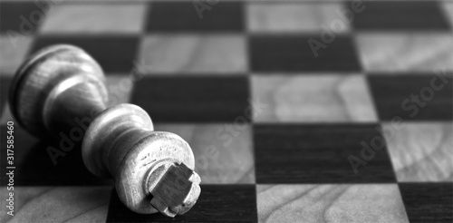 Fotografie, Obraz schach könig schachmatt schwarz weiß