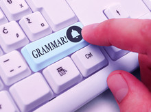 Writing Note Showing Grammar. ...