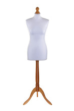 Tailors Dummy Mannequin On White With Clipping Path