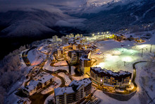 Night Aerial View Of The Ski R...