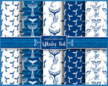 Seamless Pattern With Whales T...